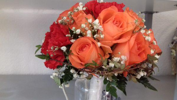 Bukiet ślubny pomarańczowy