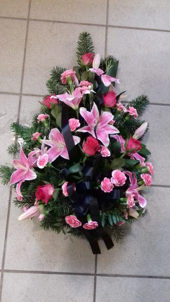 wiązanka pogrzebowa z lilii