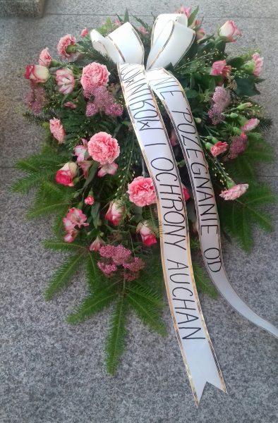 Wiązanka pogrzebowa róża, gożdzik, alstromeria