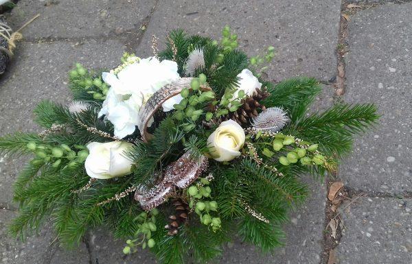 stroik na grób hortensja