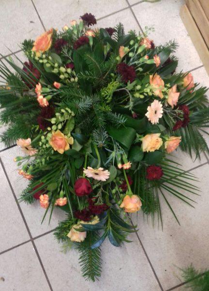 Wiązanka z róż, gerbery goździków