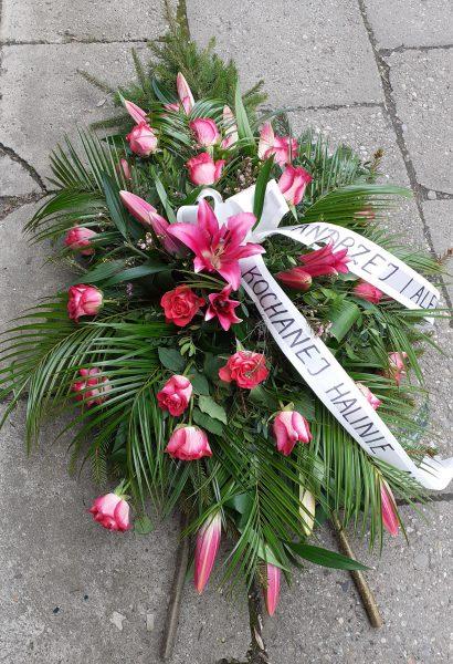 Wiązanka z różowej lilii i róż
