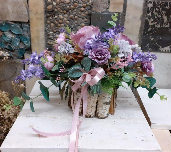 Stroik na grób fioletowy