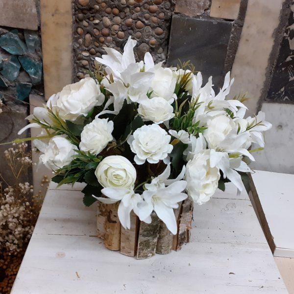 Stroik na grób biały