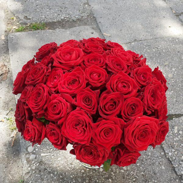 Bukiet z 50 róż