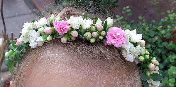 Opaska z kwiatów kalanchoe
