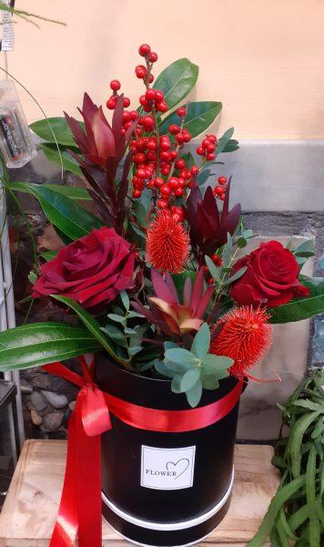 Flower box świąteczny