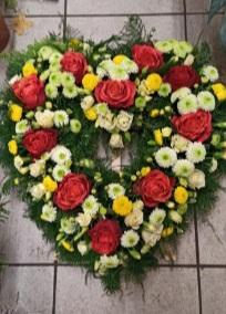 Wieniec pogrzebowy serce