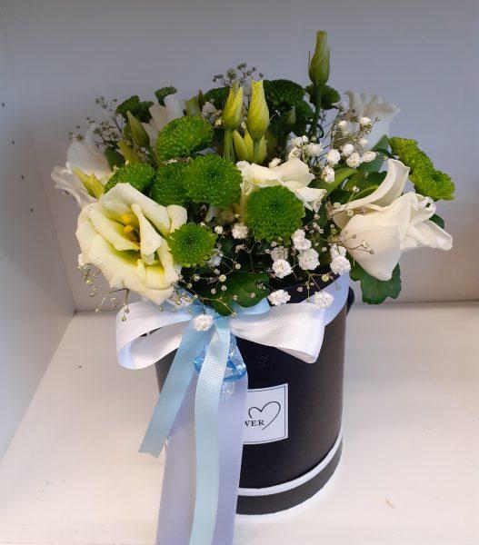 Flower box z tulipanami