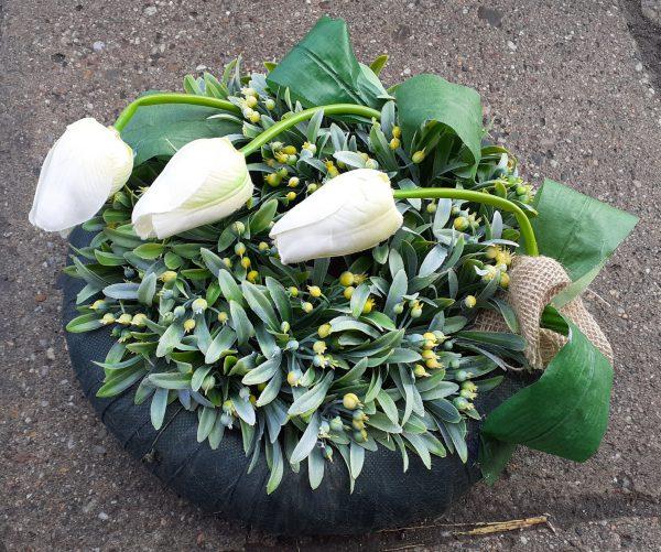 Wianek wiosenny tulipany