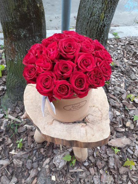 Flower box z 30 róż