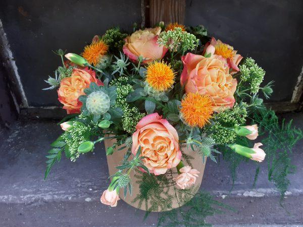 Flower box pomarańczowy